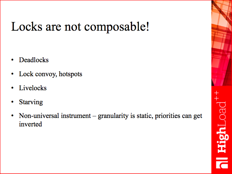 Locks are not composable!