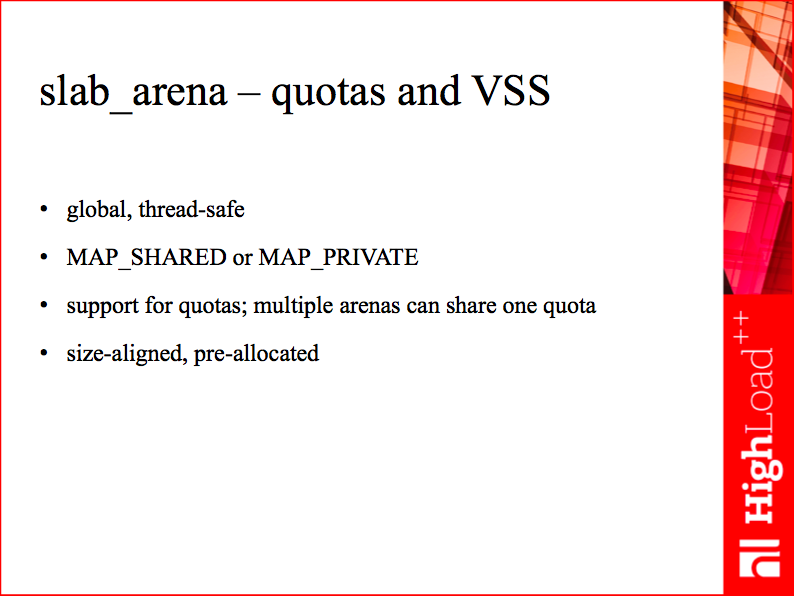 slab_arena - quotas and VSS
